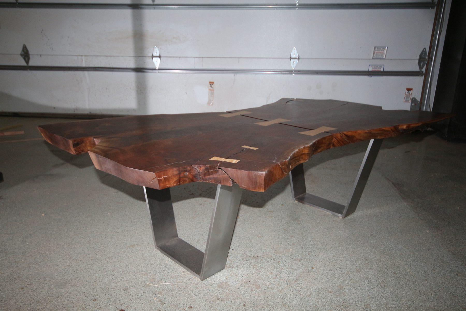 crotch walnut live edge coffee table