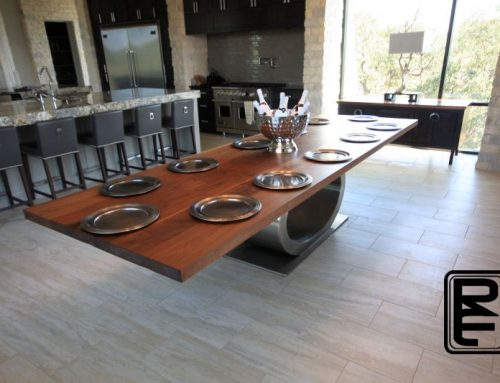 Walnut Stainless Dining Table