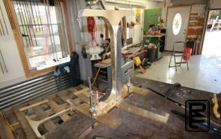 Solid Bronze Base Fabrication