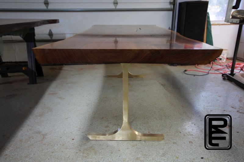 Walnut Dining Table End
