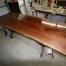 Walnut Bronze Dining Table