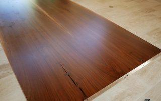 walnut bowtie dining table
