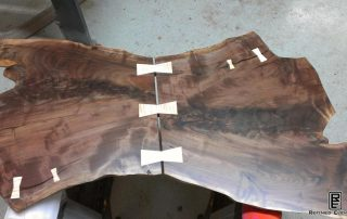 Curly Maple Bowtie Coffee Table