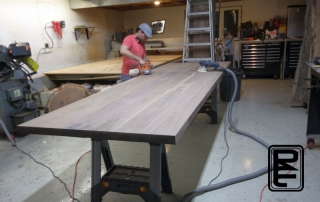 Walnut furniture sanding