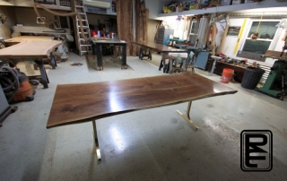 Walnut Bronze Dining Table