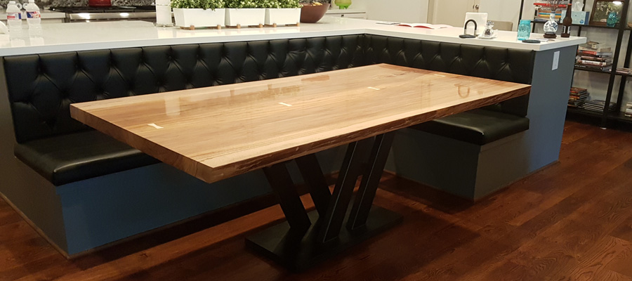 Texas Pecan Live Edge Kitchen Table