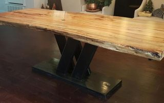 Texas Pecan Slab Dining Table
